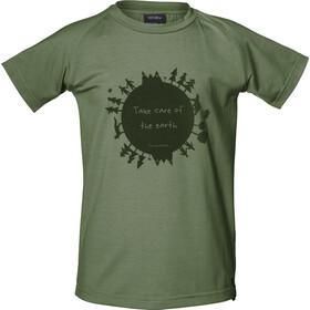 Isbjörn Earth t-shirt Kinderen olijf